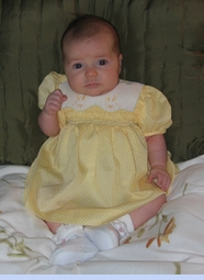 <strong>Baby Peytyn in Polly Flinders Dress</strong>