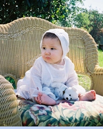 <strong>Baby Jared in Heirloom 1930s Christening Gown</strong>