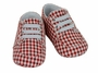 NEW Sarah Louise Red Checked Shoes with Stretch Laces
