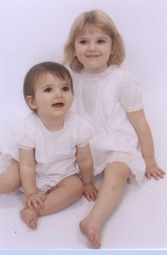 <strong>Baby Ella & Baby Julia in Heirloom 1930s Embroidered Dresses</strong>