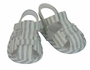 NEW Sarah Louise Blue and White Striped Linen Blend Sandals