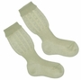 NEW Carlino Ivory Cotton Knee Socks with Scalloped Cuffs