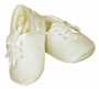 NEW Sarah Louise Ivory Silk Christening Shoes with Embroidered Cross