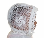 Heirloom Victorian White Cotton Crocheted Christening Bonnet