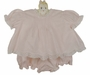"<img src=""http://site.grammies-attic.com/images/blue-sold-1.gif""> NEW Hand Embroidered Pink Pintucked Diaper Set with Lace and Embroidery"