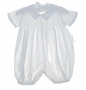 NEW Sophie Dess White Pique Short Sleeved Smocked Romper