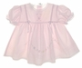 NEW Garden of Angels Pink Baby Dress with Pintucks and Embroidered Flowers