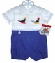NEW Paul E. Flinders Smocked Romper with Embroidered Seals