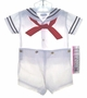 NEW C. I. Castro White Button On Sailor Suit for Toddler Boys