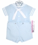 "<img src=""http://site.grammies-attic.com/images/blue-sold-1.gif""> NEW C. I. Castro Light Blue Button On Sailor Suit for Toddler Boys"