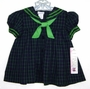 NEW C. I. Castro Navy and Green Plaid Sailor Dress for Baby Girls