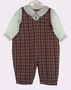 "<img src=""http://site.grammies-attic.com/images/blue-sold-1.gif""> NEW Petit Ami Plaid Romper with Attached White Shirt"