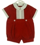 NEW Red Velvet Romper with Lace Trimmed Front