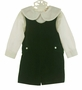 NEW Lavender Blue Green Velvet Shortall with Ivory Shirt