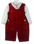 NEW Carriage Boutiques Red Velvet Shortall with White Shirt