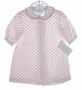 NEW Bailey Babies White Flannel Baby Gown with Red Polka Dots