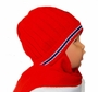 NEW Red Hat with Attached Scarf with Appliqued Penguin