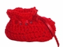 "<img src=""http://site.grammies-attic.com/images/blue-sold-1.gif""> NEW Red Custom Crocheted Baby Booties"