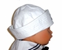 Classic White Dixie Cup Style Sailor Hat with Embroidered Anchor for Babies and Toddlers