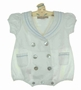 NEW Little Linens White English Style Sailor Romper with Blue Trim