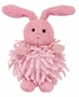 "<img src=""http://site.grammies-attic.com/images/blue-sold-1.gif""> NEW Chenille Pink Baby Bunny Rattle"