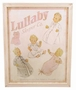 "<img src=""http://site.grammies-attic.com/images/blue-sold-1.gif""> NEW Lullaby Print Framed Picture for Baby Girls"