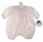 NEW Sarah Louise Pink Smocked Bubble with Embroidered Fireflies
