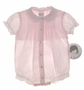 "<img src=""http://site.grammies-attic.com/images/blue-sold-1.gif""> NEW Sarah Louise Pale Pink Embroidered Romper with Pintucks and Embroidery"