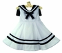 "<img src=""http://site.grammies-attic.com/images/blue-sold-1.gif"">  Rare Editions White Sleeveless Sailor Dress with Navy Collar"