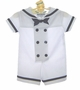 "<img src=""http://site.grammies-attic.com/images/blue-sold-1.gif""> NEW Rare Editions White Sailor Shortall with Matching Sailor Hat"