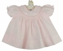 NEW Feltman Brothers Pink Smocked Dress with White Embroidery and Lace