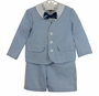 NEW Good Lad Eton Style Blue and White Seersucker Shorts Suit Set