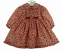NEW Sarah Louise Red Flowered Dress with Red Velvet Bows