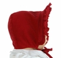 NEW Bailey Boys Vintage Style Red Pinwale Corduroy Bonnet with Ruffled Trim