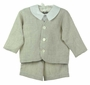 NEW Gordon and Company Flax Linen Eton Suit with Shorts