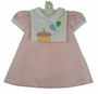 NEW Mulberry Street Pink Striped Dress with Removable Birthday Bib