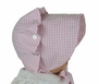 NEW Vintage Style Beaufort  Bonnet in Pink Checked Gingham