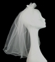 NEW Headband Veil with Satin and Organdy Bow