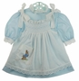 Vintage Pale-Blue Dress with White Smocked Peter Rabbit Pinafore