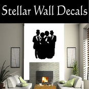 Christmas Carolers NS001 Vinyl Decal Wall Art Sticker Mural SWD