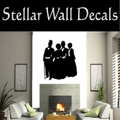 Christmas Carolers NS002 Vinyl Decal Wall Art Sticker Mural SWD
