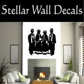 Christmas Carolers NS003 Vinyl Decal Wall Art Sticker Mural SWD
