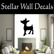 Christmas Rudolph NS001 Vinyl Decal Wall Art Sticker Mural SWD