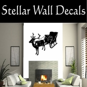 Santas Sleigh NS001 Vinyl Decal Wall Art Sticker Mural SWD