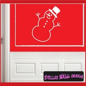 Snowman Christmas Holiday Vinyl Wall Decal Mural Quotes Words CP035 SWD