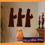 Three wise men Christmas Holiday Vinyl Wall Decal Mural Quotes Words CP105 SWD