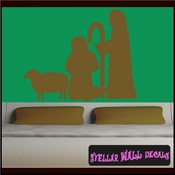 Shepherd o lord Christmas Holiday Vinyl Wall Decal Mural Quotes Words CP106 SWD