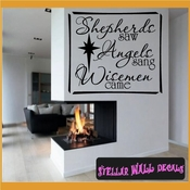 Shepherds Saw Angels Sang Wismen Came Christmas Holiday Vinyl Wall Decal Mural Quotes Words HD031 SWD