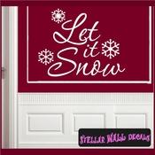 Let it snow Christmas Holiday Vinyl Wall Decal Mural Quotes Words HD037 SWD