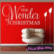 The wonder of Christmas Holiday Vinyl Wall Decal Mural Quotes Words HD040 SWD